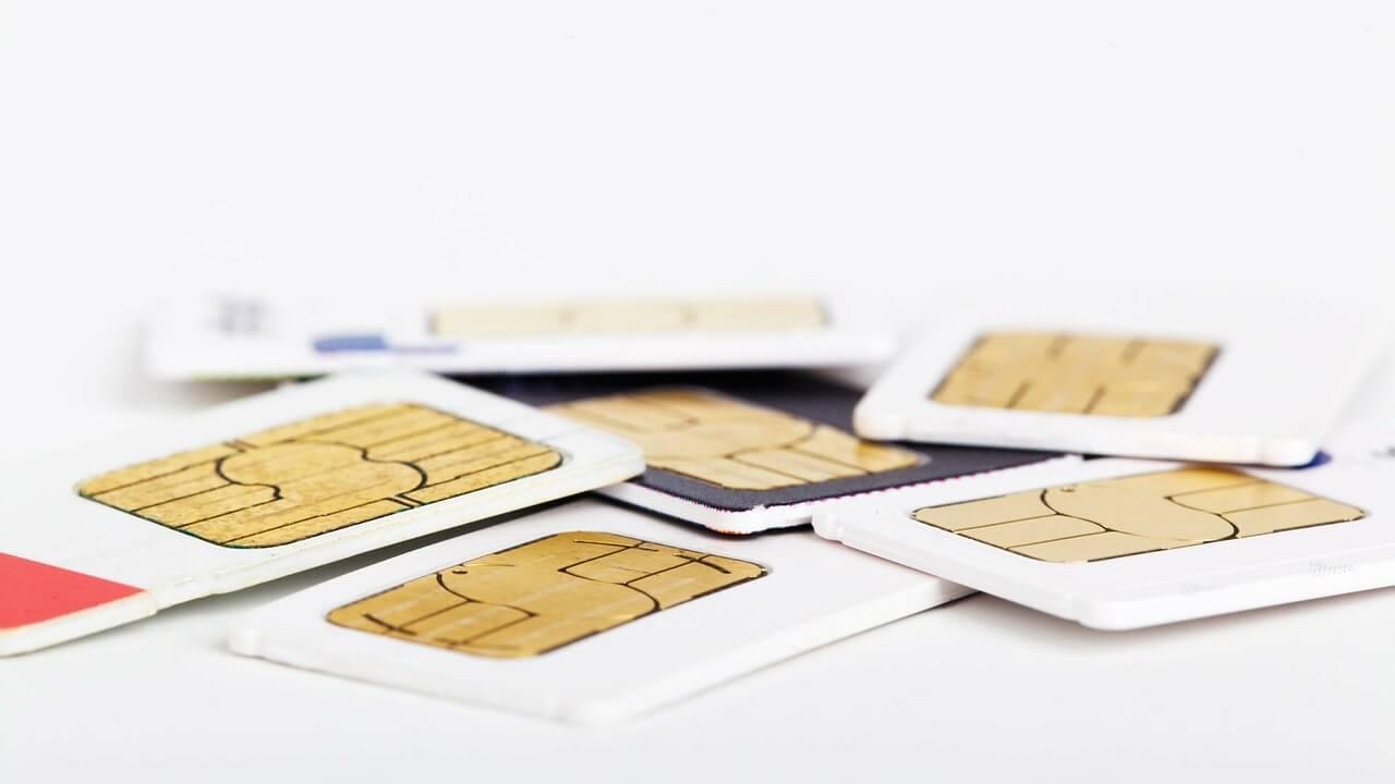 SIM kaart stapel
